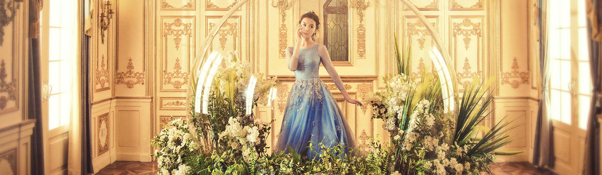 长沙婚纱照拍摄 林心如同款水晶玻璃球