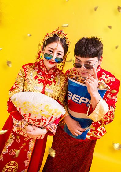 搞怪中式系列婚纱照