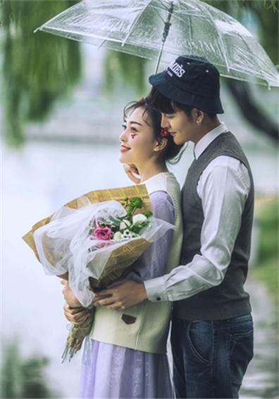 浪漫雨景系列婚纱摄影