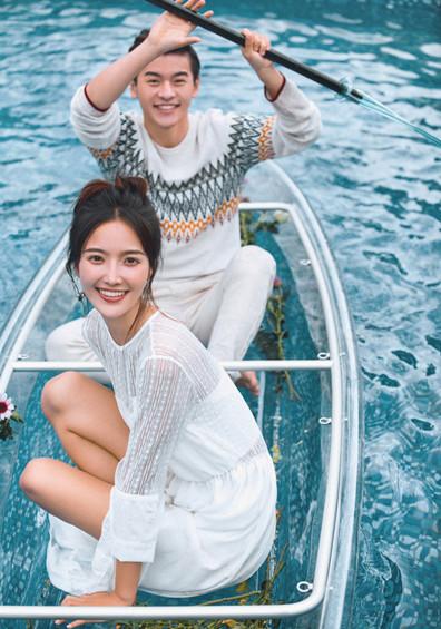 甜蜜水晶船系列婚纱照