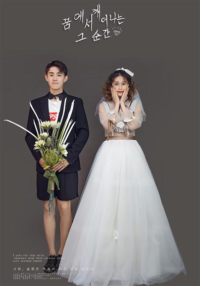 时尚简约纪实婚纱照