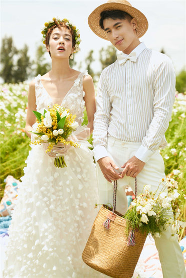 《浪漫花海》系列婚纱照